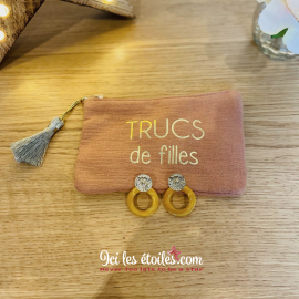 Boucles D'Oreille Louise Coloris Moutarde