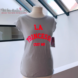 Tee-shirt Princesse Gris Clair